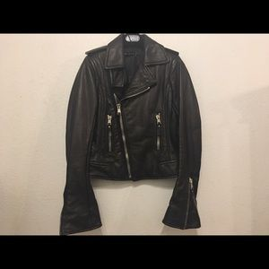 NWT BALENCIAGA Leather Motorcycle Biker Jacket 38